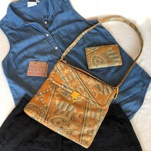 Leather Morris Moskowitz Bag and Wallet